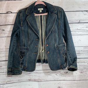 Ann Taylor loft size 8 denim blazer like new- AA